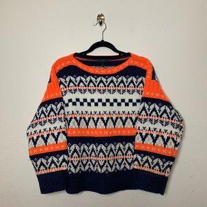 J. Crew Festive Fair Isle Wool Pullover Sweater